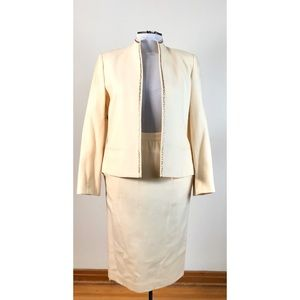 Vintage Raspini Cream Wool Dress Suit